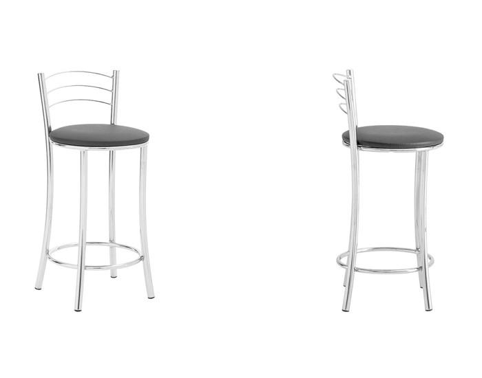 Banqueta Bar 075 - Com Encosto 3 Arames - 56cm- Assento Estofado