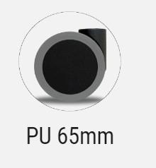 Diferença - Rodízio 65 PU de silicone para cadeiras CAVALETTI ( Aranha Nylon e Alumínio )