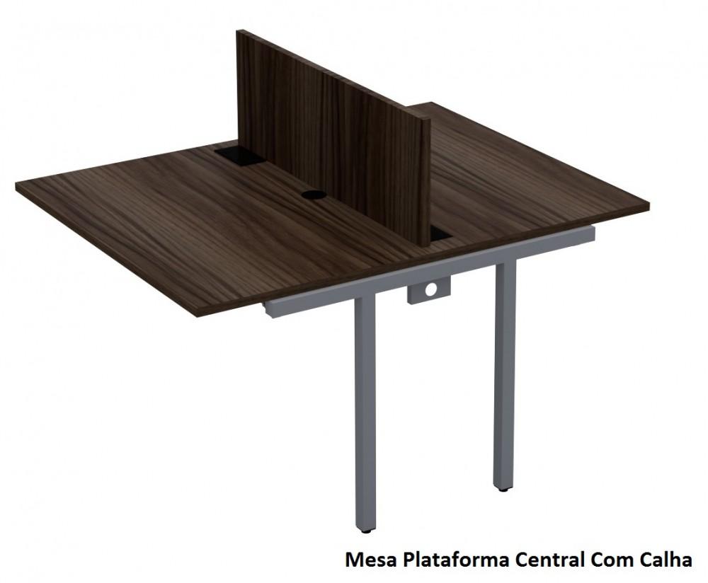 Mesa Plataforma Central Com Calha Elétrica Click 25mm - 1200mm X 1400mm X 740mm