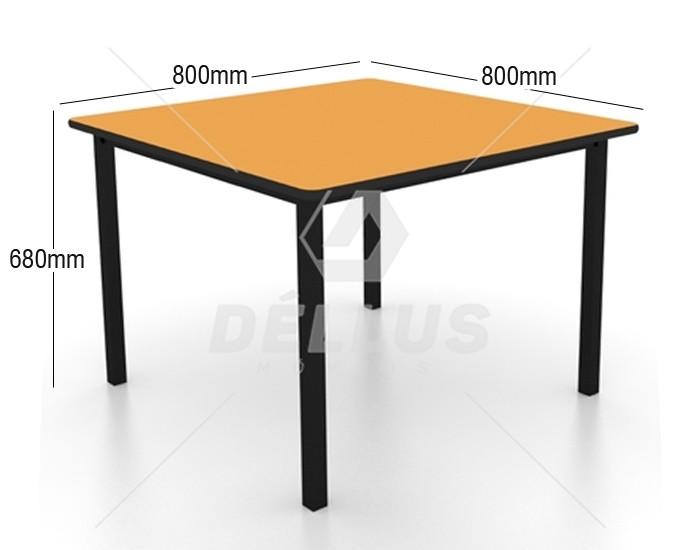 Conjunto de mesa juvenil (6 à 10 anos) - 1 mesa + 4 cadeiras - colorido - Dellus -