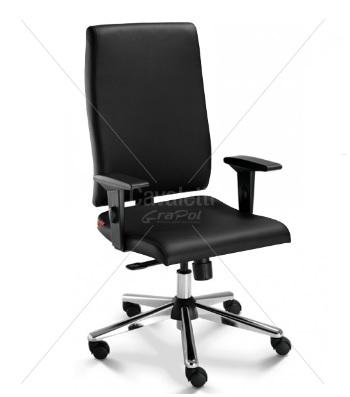 Cadeira para escritório giratória presidente 18001 - Relax - Linha Slim - Braço SL - Cavaletti - Base Estampada Cromada
