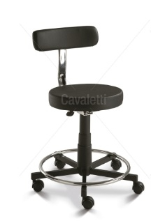 Mocho ( Cadeira Giratória 2024 BG sem polaina e com encosto - aro cromado- injetado )