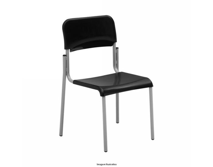 Cadeira Fixa ESC001 - Base Fixa Cinza - Sem Braço - Linha Escolar - Frisokar