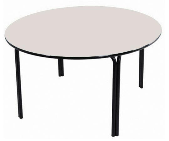 Mesa redonda Infantil (1 à 5 anos) Branco ou Bege  Diâmetro 1000mm - Dellus
