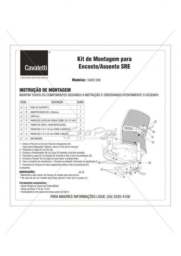 Cadeira para escritório executiva giratória 16003 SRE - Linha NewNet - Cavaletti - Base Polaina -