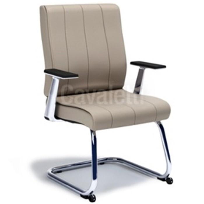 Cadeira para escritório fixa aproximação 20506 S com rodízios frontais - Linha Essence - Cavaletti
