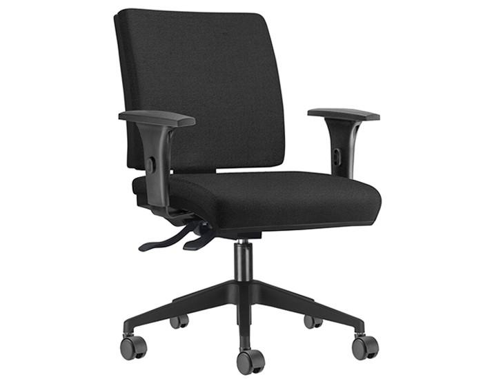 Cadeira para Escritório Diretor Giratória SIM073 - Mecanismo Evolution - Base Nylon - Com Braço PP - Linha Simple - Frisokar
