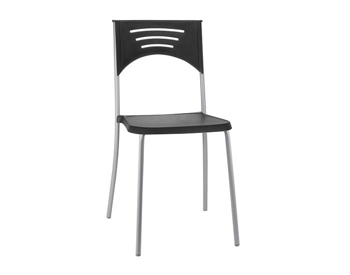 Cadeira Fixa BLISS2 - Base Fixa Cinza - Linha Bliss - Sem Braço - Frisokar