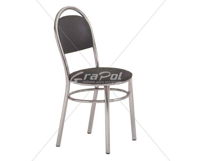 Cadeira 438 em Aço - Assento Redondo - Estofada - Unimóvel