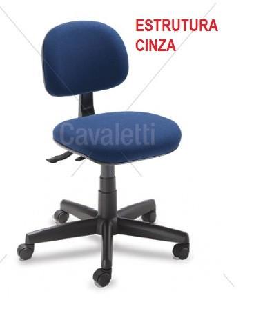 Cadeira COSTUREIRA Giratória Secretária 4034 SRE - Linha Start - Cavaletti - Base Polaina  - Estrutura Cinza