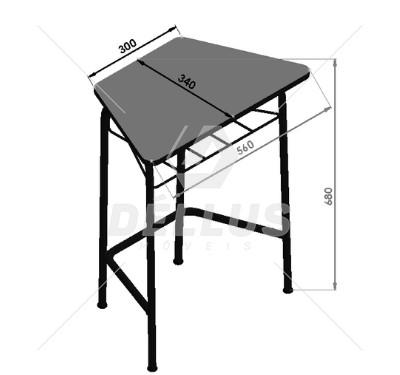 Conjunto de mesas e cadeiras OITAVADO JUVENIL (6 à 10 anos) Branco ou Bege - Dellus -