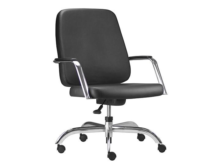 Cadeira Giratória MAX008 Extra - Base Giratória Cromada - Com Braço - Capacidade 150kg - Linha Maxxer - Frisokar