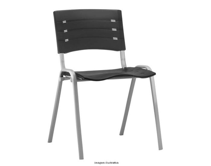 Cadeira Fixa NIS002 - Base Fixa Cinza - Linha NEW ISO - Sem Braço - Frisokar