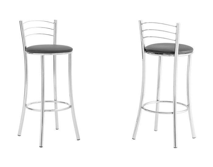 Banqueta Bar 074 - Com Encosto 3 Arames - 68cm - Assento Estofado