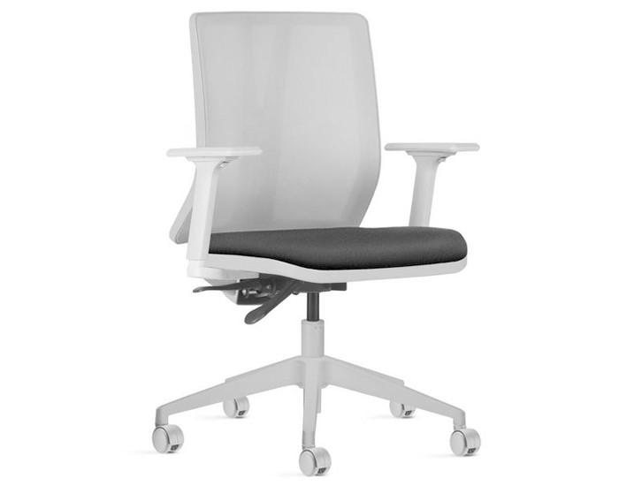 Cadeira Para Escritório Diretor Giratória KADD82 - Estrutura Cinza - Mecanismo Evolution - Base Piramidal Nylon - Linha Addit - Com Braço - Frisokar