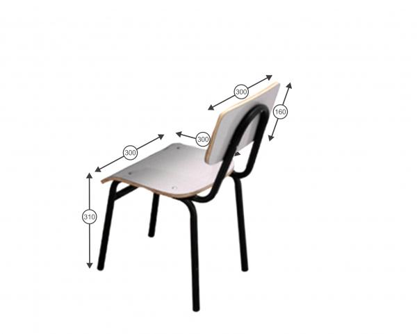 Conjunto de mesa infantil (1 à 5 anos) - 1 mesa + 4 Cadeiras -  Branco ou Bege -  Dellus -