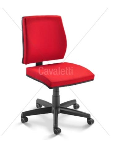 Cadeira para escritório giratória 37002 - BG - Linha Mais - Cavaletti - Base em Polaina