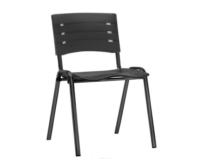 Cadeira Fixa NIS001- Base Fixa Preta- Linha NEW ISO - Sem Braço - Frisokar