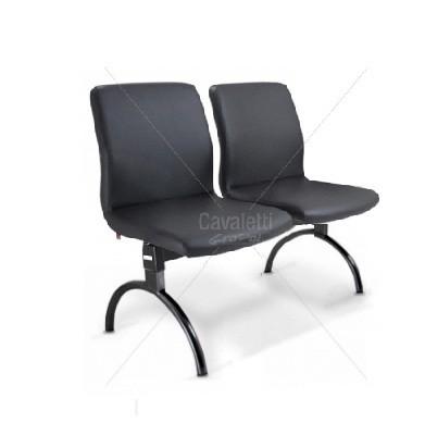 Conjunto cadeira auditório longarina 18010 2 L - Linha Slim - Cavaletti
