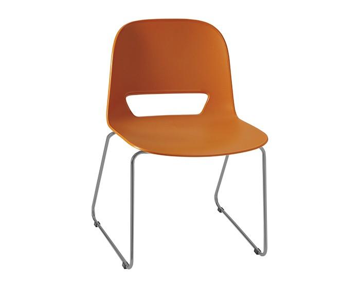 Cadeira Fixa KIN012 - Base Fixa Cinza - Linha Kind - Sem Braço - Frisokar