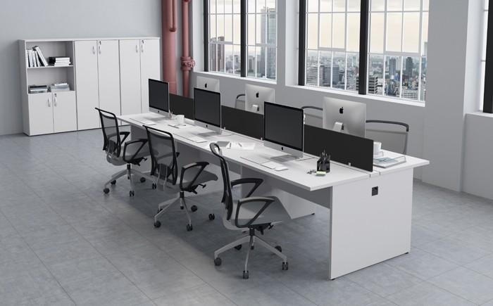 Mesa Componível Complemento com 2 Lugares. 1 Lugar + 1 Lugar Frente a Frente - 1000mm X 1320mm X 750mm - Tampo MDP 40mm -