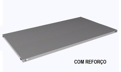 Prateleira avulsa de aço - COM 2 REFORÇOS - com parafusos e porcas. 925mm x 580mm