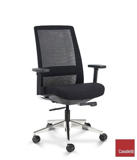 Cadeira para escritório giratória presidente 29001 - BRAÇO 3D - Linha C4 - Cavaletti - Base Alumínio