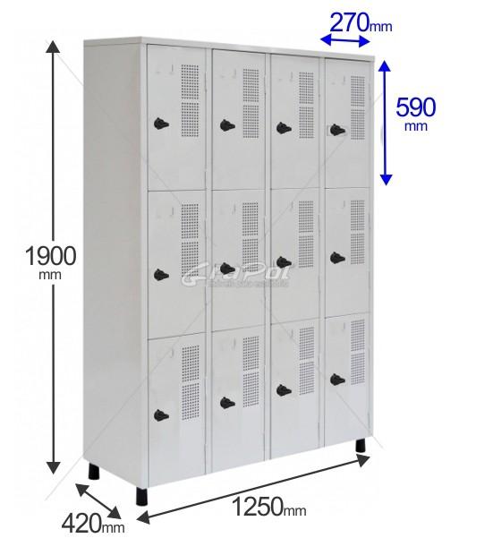 Roupeiro Para Vestiário RGRSP 12 E - 12 Portas - Com Fecho Porta-Cadeado - RCH