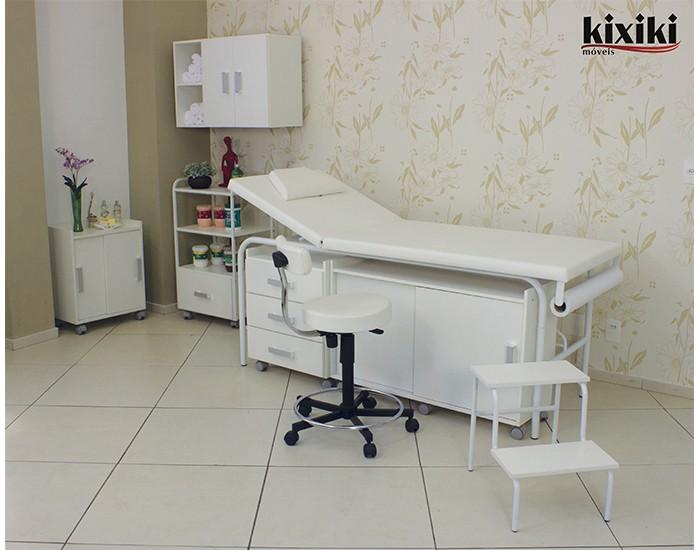 Cama de Massagem - Encosto Reclinável - Com Descanso Facial - Kixiki Móveis -