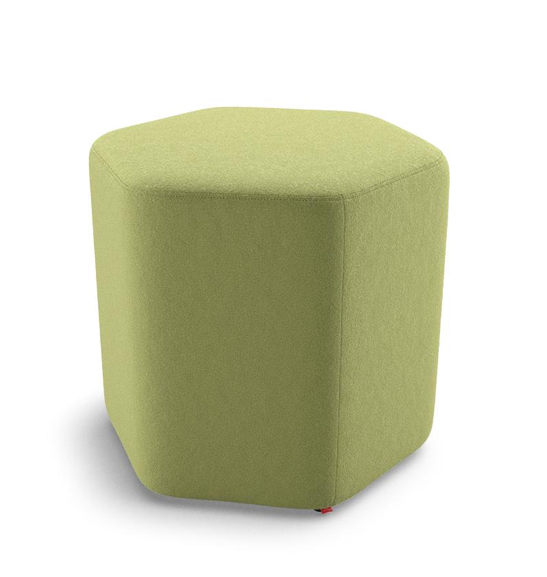 Puff Hexagonal Regular Alto 36675 - Altura 450mm x Profundidade 815mm x Largura 719mm - Linha Fun - Cavaletti