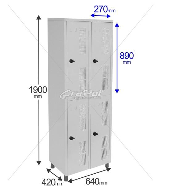 Roupeiro Para Vestiário RGRSP 4 Portas - Com Fecho Porta-Cadeado - RCH
