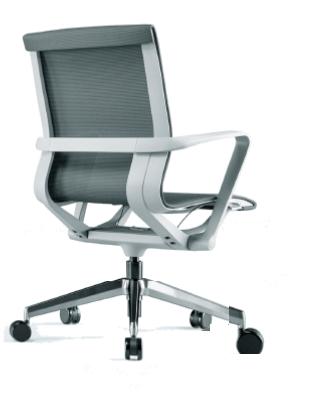 Cadeira para escritório giratória Diretor 44102 Auto Regulável - Linha Aura - Braço - Estrutura Cinza - Cavaletti - Base Alumínio