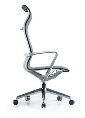Cadeira para escritório giratória presidente 44101 Auto Regulável - Linha Aura - Braço - Estrutura Cinza - Cavaletti - Base Alumínio