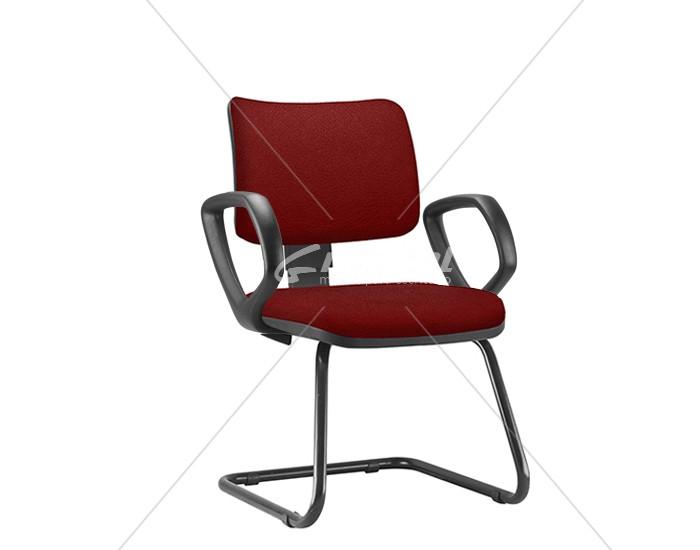 Cadeira Fixa ZIPFX407- Base SKL - Linha ZIP - Com Braço - Encosto Estofado - Frisokar