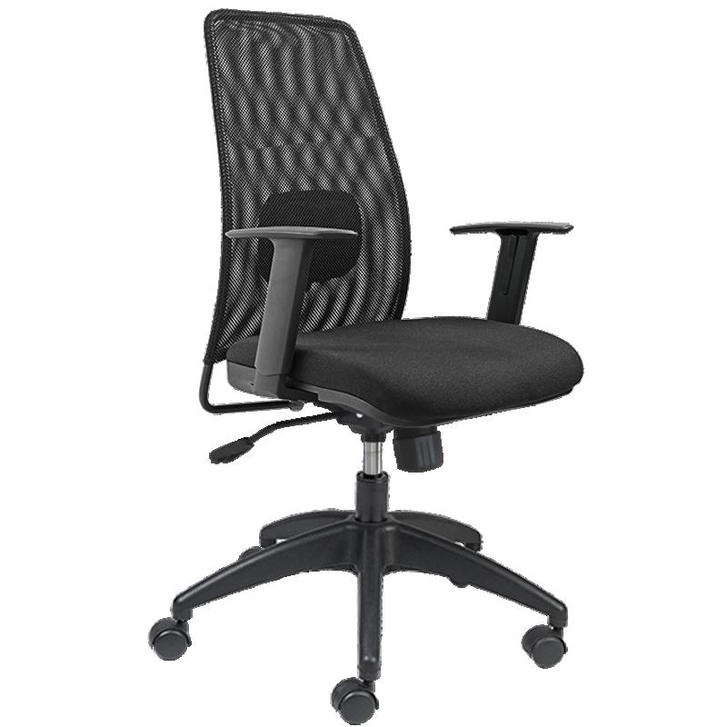 Cadeira Presidente Only Alta - Encosto em Tela Mesh - Com Apoio Lombar - Base Nylon - Relax - OMP