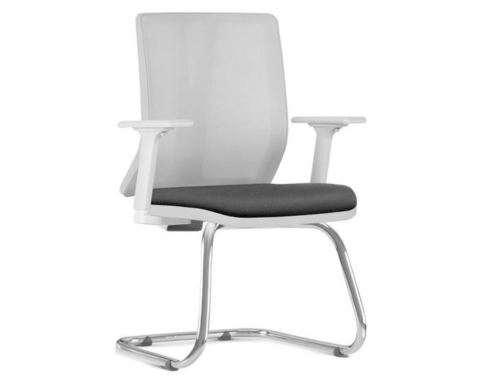 Cadeira Fixa KADD86 - Estrutura Cinza - Base Fixa Diretor Cromada - Linha Addit - Com Braço - Frisokar