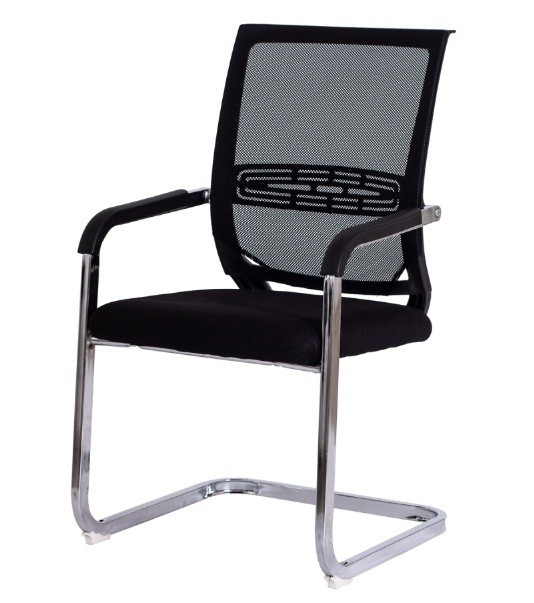 Cadeira Mesh Fixa - Base Aço Cromado