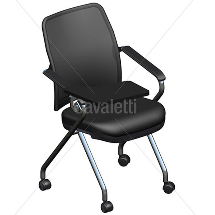 Cadeira Universitária 16506 Z -  Prancheta Retrátil - Estrutura Cromada - Linha NewNet Soft - Cavaletti