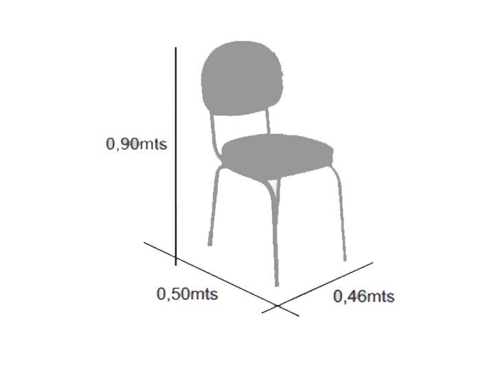 Cadeira Splendore - Estrutura em Cromada - Terra Santa Móveis -