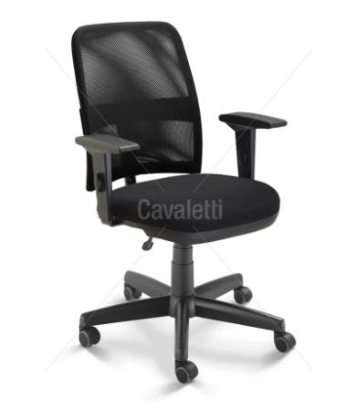 Cadeira para escritório executiva giratória 16003 BG - Braço SL - Linha NewNet - Cavaletti - Base Polaina