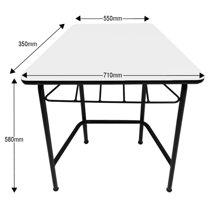 Conjunto de mesas e cadeiras SEXTAVADO INFANTIL (1 à 5 anos) Branco ou Bege - Dellus -