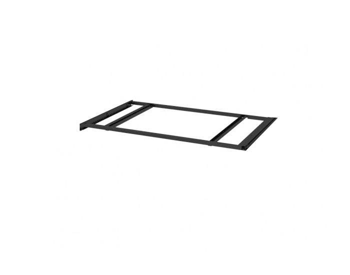 Suporte de Metal para pasta Suspensa de armário 770 x 385 Preto