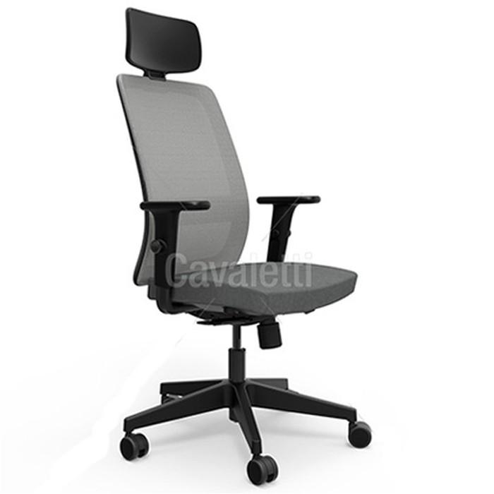Cadeira para escritório giratória presidente 42101 AC - Braço ID  -  SYNCRON - Linha Vélo - Cavaletti - Base em Nylon