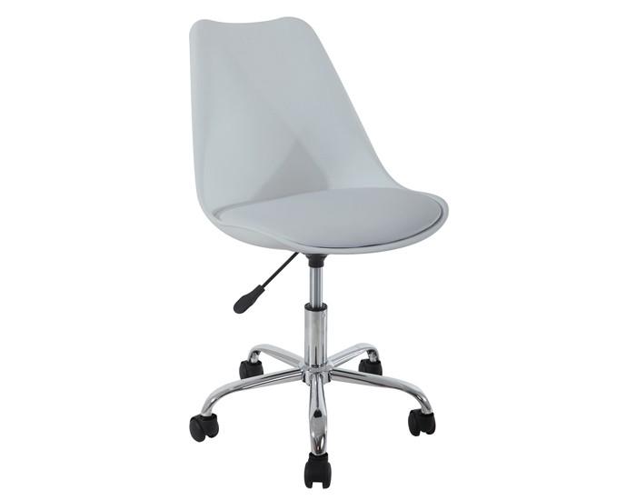 Cadeira Eiffel Office - Eames - Assento Estofado - Base Cromada