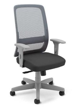 Cadeira para Escritório Presidente Giratória 42501 -  Syncron  - Linha Velo Light - Braço SL New PP   - Cavaletti - Aranha Polaina - Estrutura Cinza
