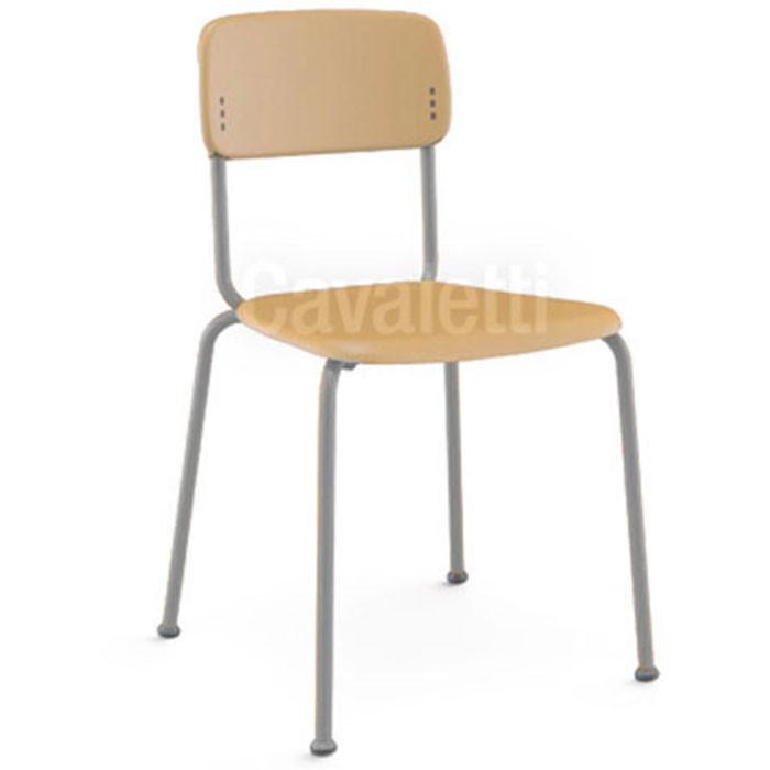 Cadeira Fixa Joy Estrutura Prata