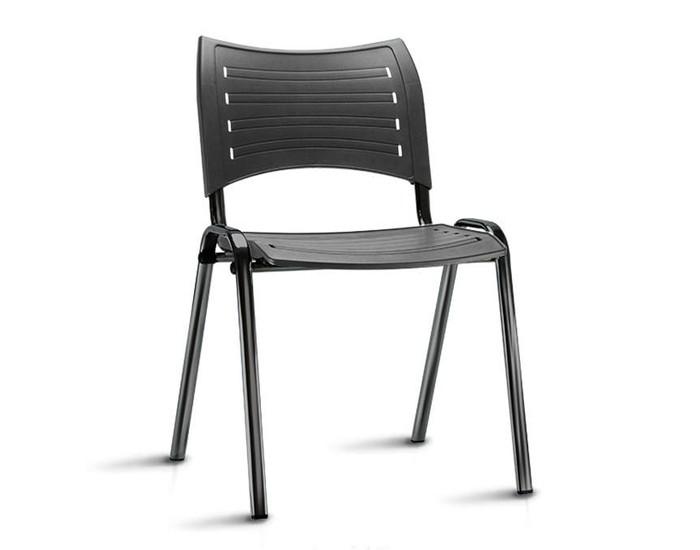 Cadeira Fixa ISO016 - Base Fixa Preta - Linha ISO- Sem Braço - Frisokar