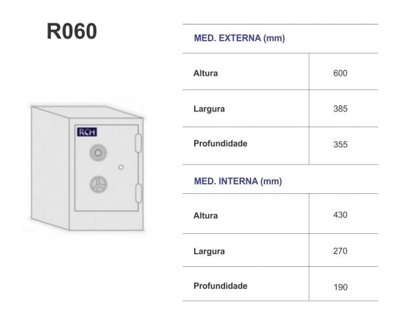Cofre R060 - RCH - Peso 110 Kg - 60cm Altura -