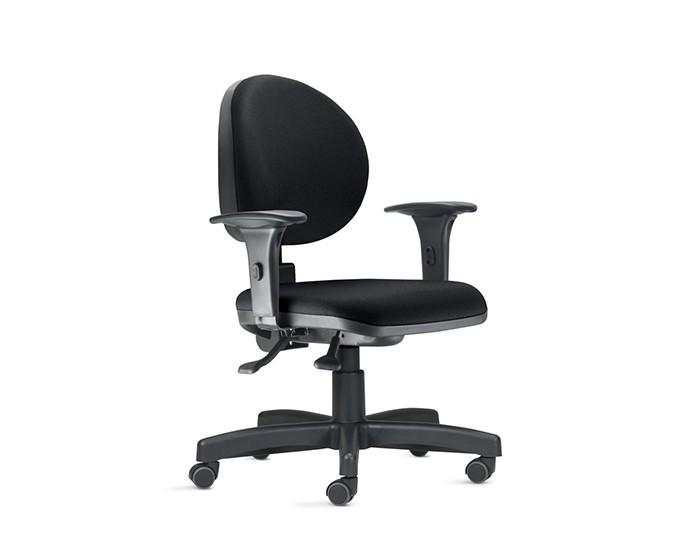 Cadeira Para Escritório Diretor Giratória 323001 - Mecanismo Standard - Base Metálica com Capa - Linha 323- Com Braço PP - Frisokar
