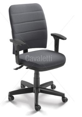 Cadeira para escritório executiva giratória 16503 SRE - Linha Soft - Braço SL New PU - Cavaletti - Base Polaina